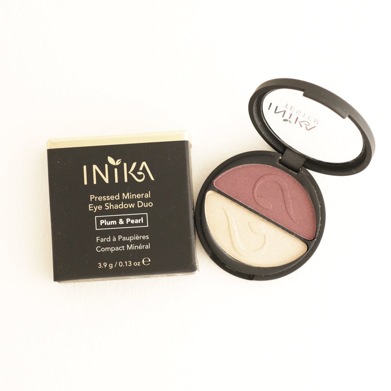 Inika Pressed Mineral Eyeshadow Duo Plum and Pearl