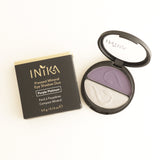 Inika Pressed Mineral Eyeshadow Duo Purple Platinum