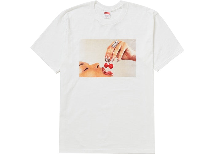 Authentic Supreme Cherries Tee White - Sneak Foot Co