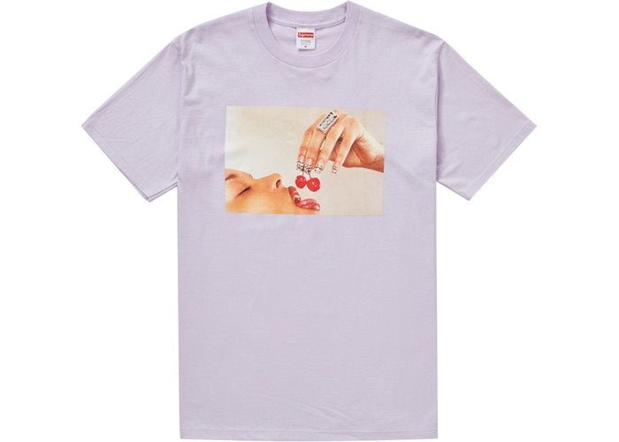 Authentic Supreme Cherries Tee Light Purple - Sneak Foot Co