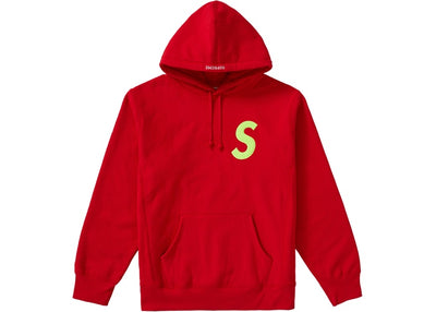 Authentic Supreme S Logo Hooded Sweatshirt Red - Sneak Foot Co