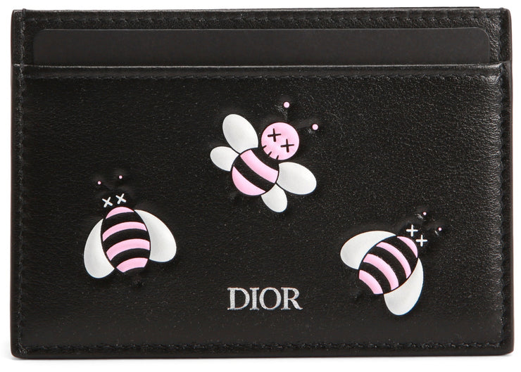 Authentic Dior X KAWS Card Holder Pink Bees - Sneak Foot Co
