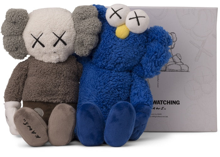 Authentic KAWS Seeing & Watching Plush Set - Sneak Foot Co