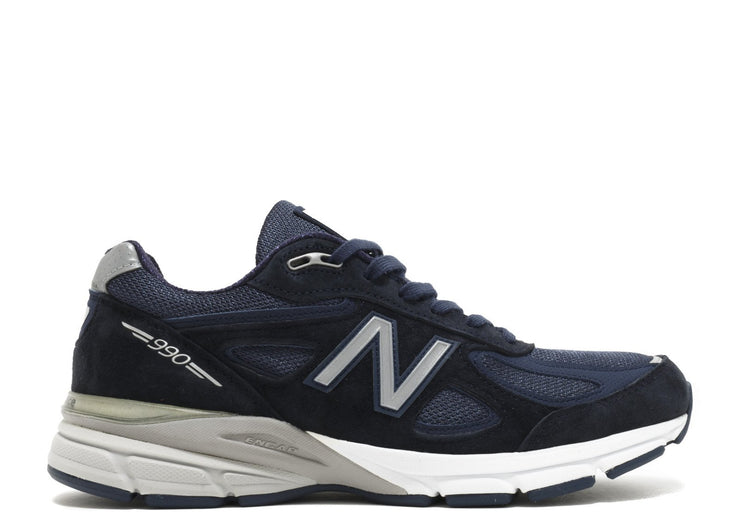 Authentic New Balance 990V4 Kith Navy - Sneak Foot Co