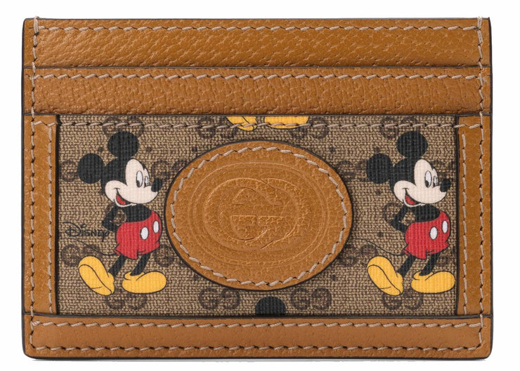Authentic Gucci X Disney Canvas Leather Card Holder (Mickey) - Sneak Foot Co