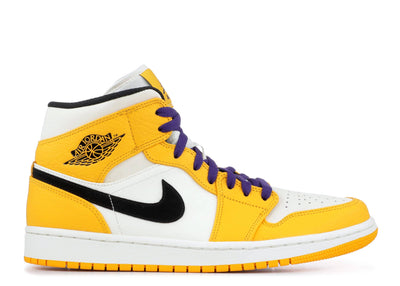 Authentic Jordan 1 Retro Mid SE Lakers - Sneak Foot Co