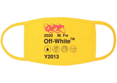 Authentic Off-White Yellow SS20 Face Mask - Sneak Foot Co
