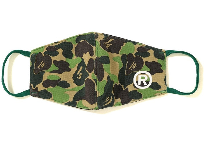 Authentic Bape Green Camo Face Mask - Sneak Foot Co