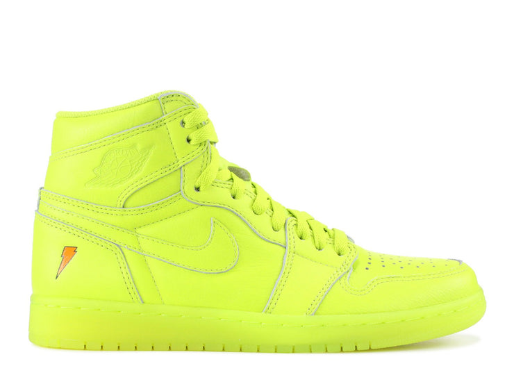 Authentic Jordan 1 Retro X Gatorade Cyber Yellow - Sneak Foot Co