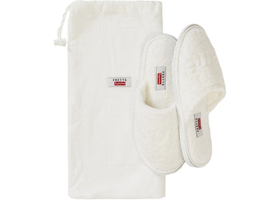 Authentic Supreme X Frette House Slippers White - Sneak Foot LTD