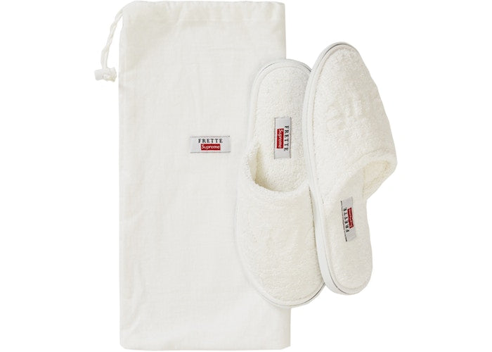 Authentic Supreme X Frette House Slippers White - Sneak Foot Co