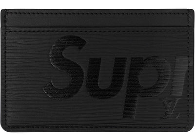 Authentic Supreme X Louis Vuitton Card Holder Black - Sneak Foot LTD