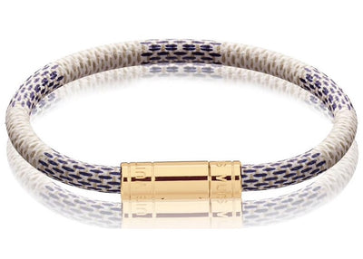 Authentic Louis Vuitton Keep It Bracelet Damier Azur - Sneak Foot LTD