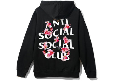 Authentic Anti Social Social Club SS20 Kkoch Hoodie Black - Sneak Foot Co