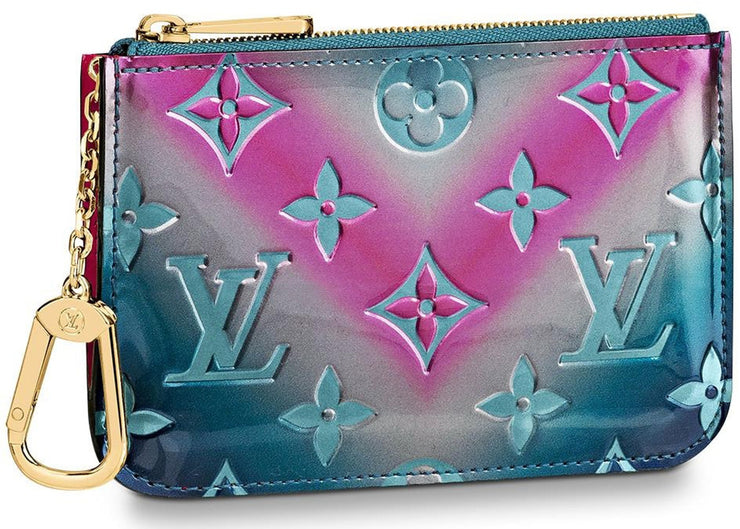 Authentic Louis Vuitton Monogram Vernis Metallic Key Pouch - Sneak Foot LTD