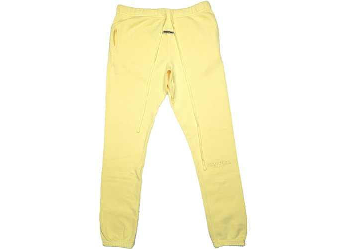 Authentic Fear Of God Essentials Sweatpants Yellow - Sneak Foot Co