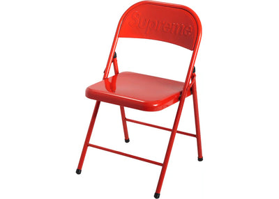Authentic Supreme Metal Folding Chair Red