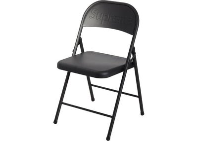 Authentic Supreme Metal Folding Chair Black
