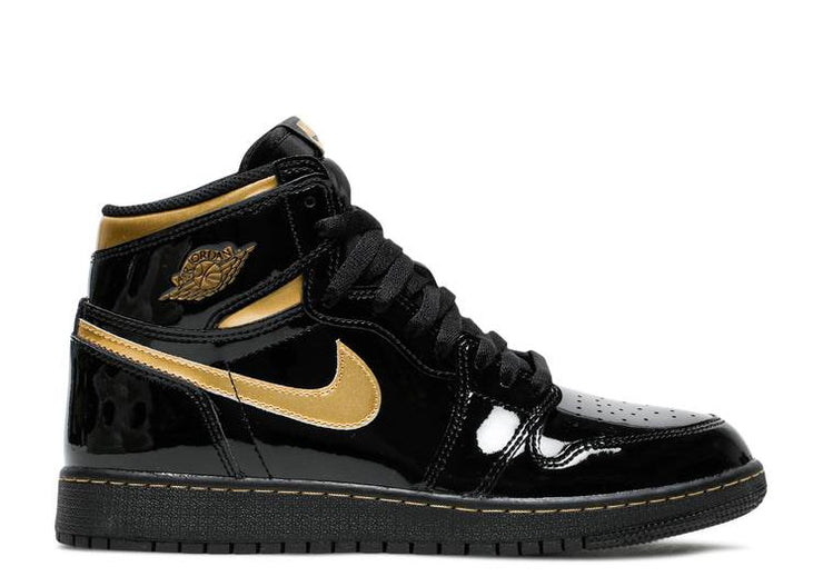 Authentic Jordan 1 Retro Black Metallic Gold 2020