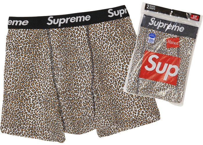 Authentic Supreme X Hanes Boxer Briefs Leopard Print - Sneak Foot Co