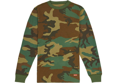 Authentic Supreme X Hanes Thermal Crew FW19 Camouflage - Sneak Foot LTD