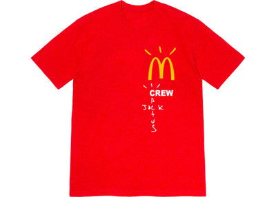 Authentic Travis Scott X McDonalds Crew Shirt Red
