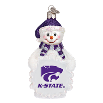 Old World Christmas Kansas State Snowman Ornament
