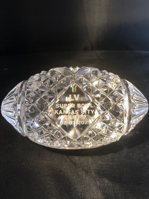 Waterford Crystal LV SUPER BOWL KANSAS CITY CHIEFS 2021