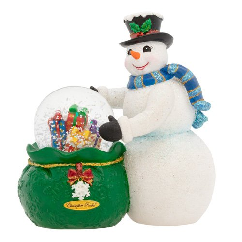 Christopher Radko Snowy Delivery Snowman Snowglobe