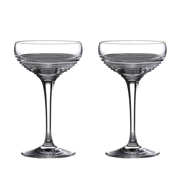 Waterford Crystal Mixology Circon Coupe pair