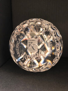 Waterford Crystal 1980 American League Champions KC RoyalsBaseball