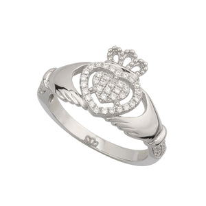 Claddagh Sterling Heart Ring