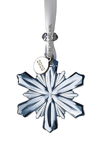 Waterford Crystal 2020 Mini Snowflake Topaz Frost Ice Ornament