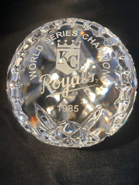 Waterford Crystal 1985 WORLD SERIES ROYALS Baseball
