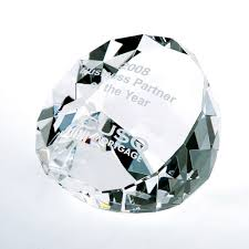Prism Clear Duet Paperweight
