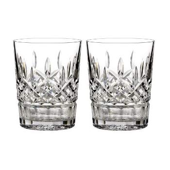 Waterford Crystal Lismore Doubled Old Fashioned 12oz, Pair