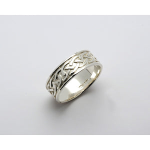 Fado 14ct White Gold Celtic Knot Ring