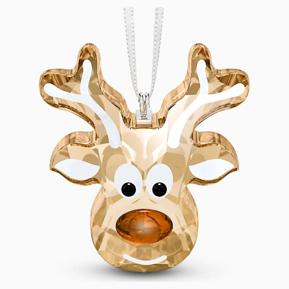 Swarovski New Gingerbread Reindeer Ornament