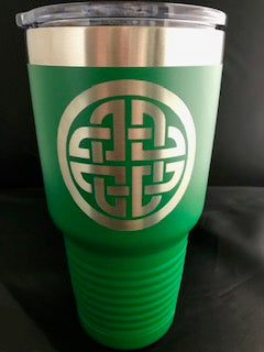 Celtic Knot Green Polar Camel 30oz Tumbler