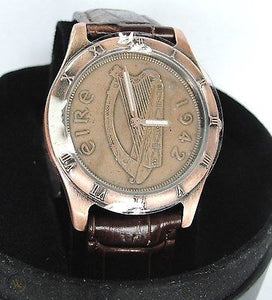 Bronze Brown Band Watch