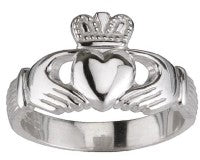 Solvar Sterling Silver Ladies Claddagh Ring