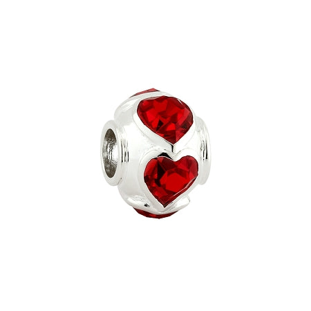 Solvar Red Heart Bead