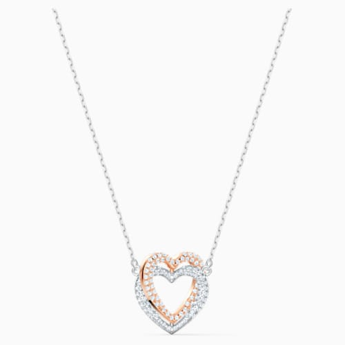 Swarovski Infinity Heart Necklace Mixed Metal
