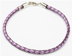 "7.75"" Purple Leather Bracelet"