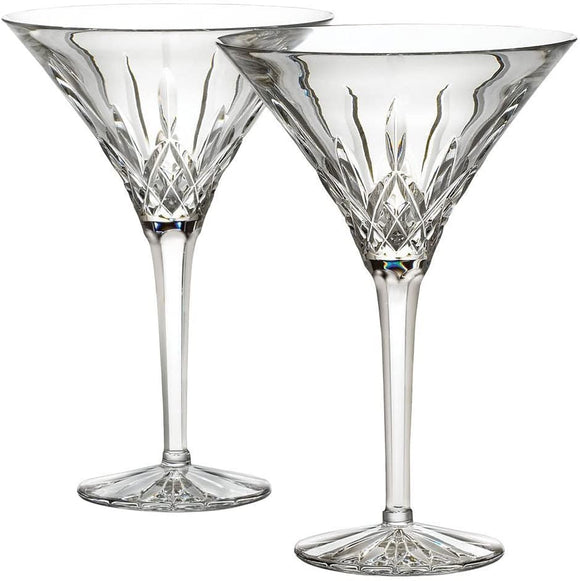 Waterfrord Crystal Lismore Martini, Tall pair