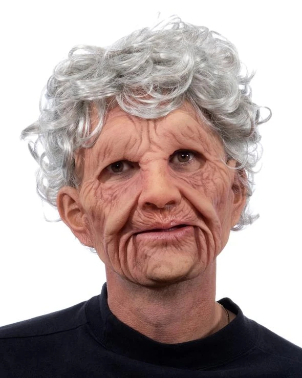 Old Man, The Super Soft Old Man Latex Face Mask with Mouth Movement