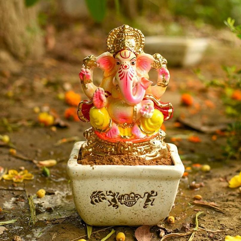 Auspicious Decorated Eco-Friendly Ganpati