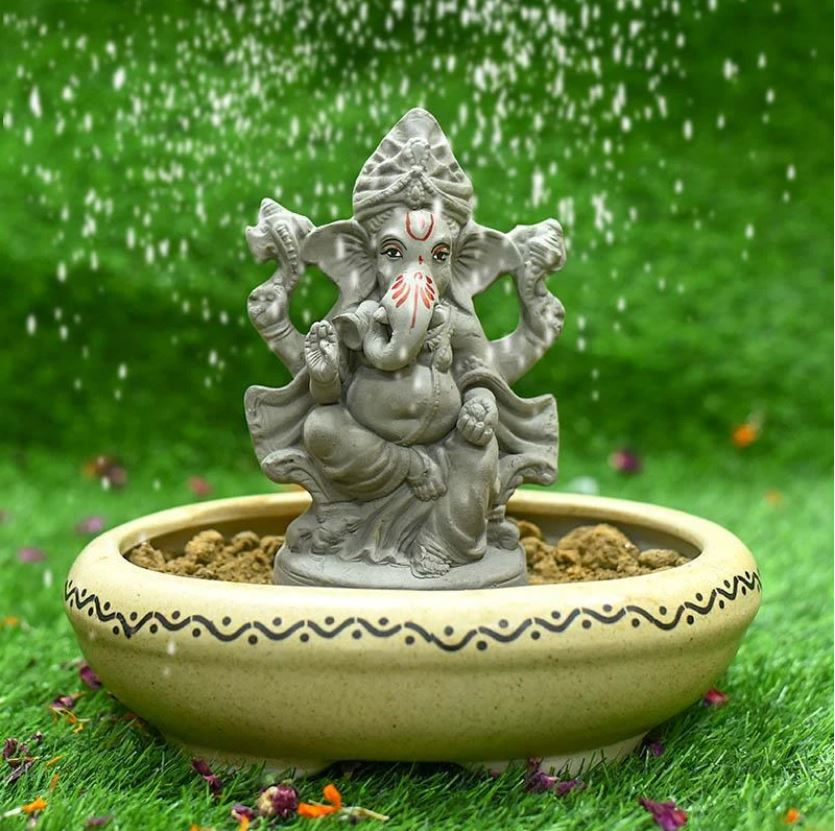 6INCH Shriniketh Eco-Friendly Ganpati