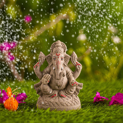 6INCH Ameya Eco-Friendly Ganpati⎮Plant-A-Ganesha