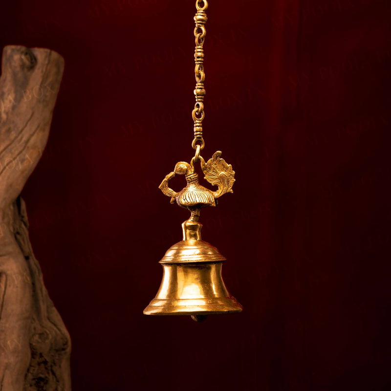 Handicrafted Brass Hanging Peacock Bell
